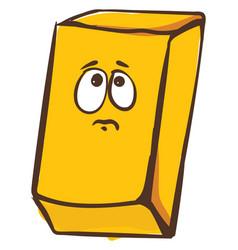 Emoji a sad piece gold or color vector
