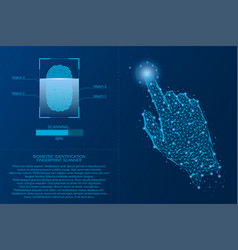 fingerprint scanning system vector image