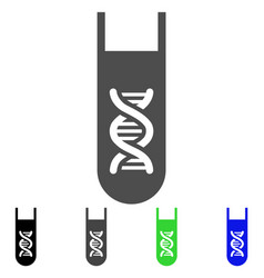 genetic analysis test-tube flat icon vector image