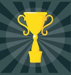 Gold winner cup on dark for concept design award vector