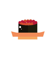 gunkan sushi food culture japan icon vector image