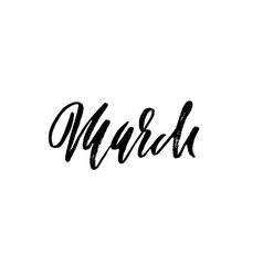 hand drawn typography lettering march month vector image