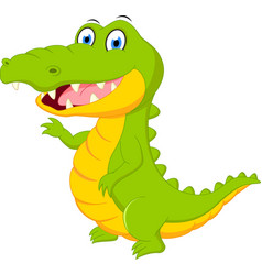 Happy crocodile cartoon vector