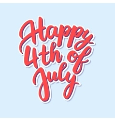happy independence day united states vector image