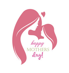 Happy mothers day greeting card template stylized vector