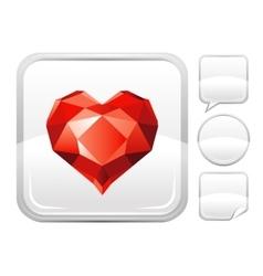 Happy valentines day romance love ruby gem stone vector