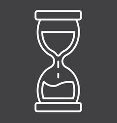 Hourglass line icon business and deadline vector