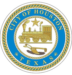 Houston city seal vector image