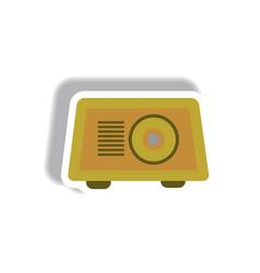 In paper sticker style radio vector