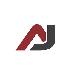 initial aj logo bold template vector image