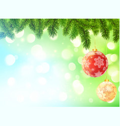 light blue and green blurred bokeh background with vector image
