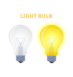 light bulbs - glowing element shining lamp vector image