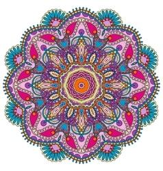 Mandala circle decorative spiritual indian symbol vector