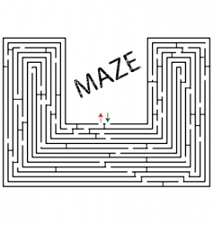 maze against white vector image