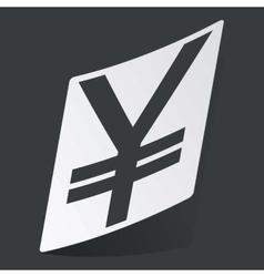 Monochrome yen sticker vector image
