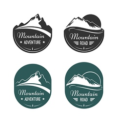 Mountain labels vector image vector image