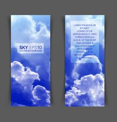 Realistic blue sky vector
