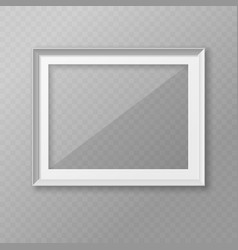 realistic photo frame for placing images template vector image