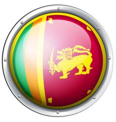 Round badge for sri lanka flag vector