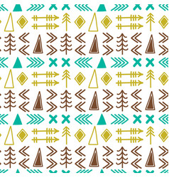 Scandinavian pattern seamless ethnic pattern vector