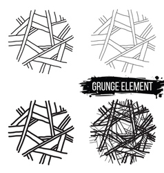 Set of abstract elements vector image