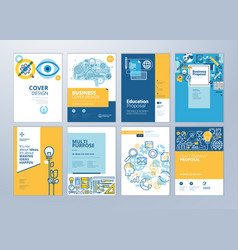 set of brochure design templates of education vector image