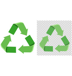 set of green recycle icon vector image