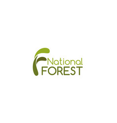 sign national forest vector image