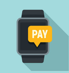 smartwatch nfc payment icon flat style vector image