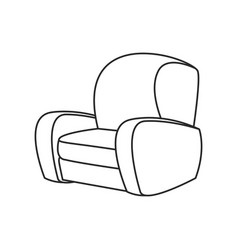 Sofa chair furniture image outline vector