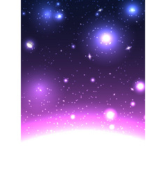 space background with stars constellations vector image