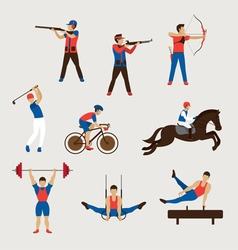 Sports Athletes Men Set vector image