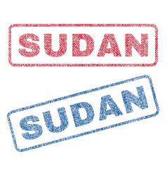 Sudan textile stamps vector