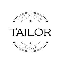 tailor vintage sign logo vector image