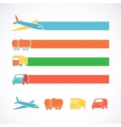 Transportation ribbons set vector image