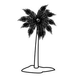 tree palm symbol vector image