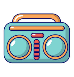 Vintage boombox icon cartoon style vector