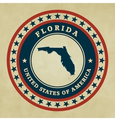 Vintage label Florida vector