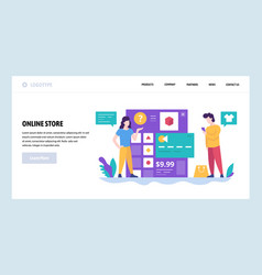 web site design template online store and vector image