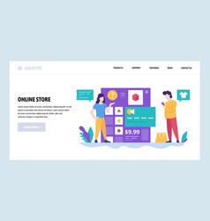 Web site design template online store vector