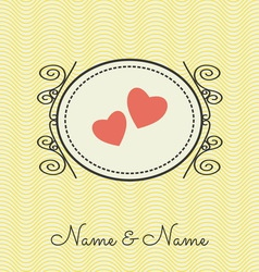 wedding cards3 vector image