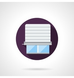 Window jalousie round flat icon vector image