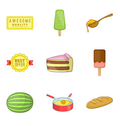 lollipop icons set cartoon style vector image