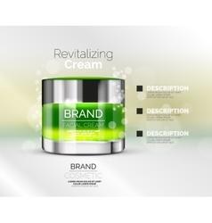 premium cream ads vector image vector image