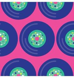 Seamless Vinyl Record Pattern Icon vector image