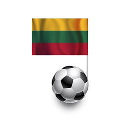 Soccer Balls or Footballs with flag of Lithuania vector image vector image