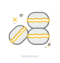 Thin line icons macaroon vector