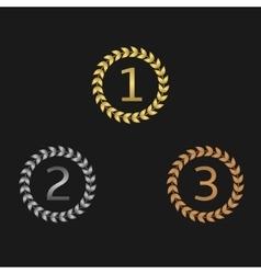 Laurel wreath awards vector image vector image