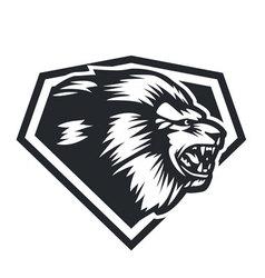 Lion head side vector image vector image