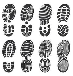 running sport shoes footprint set vector image